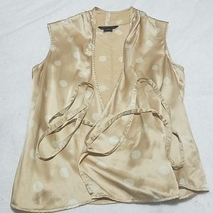 Moda International Tan & Cream Vest
